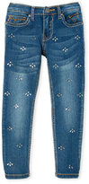 Vigoss Girls 4-6x) The Jagger Rhinestone Skinny Jeans