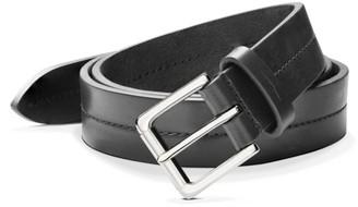 Shinola Metallic Buckle Leather Belt