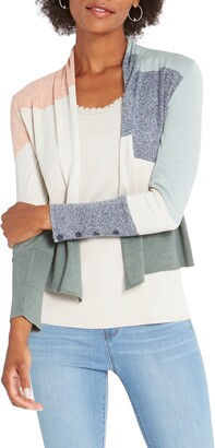 Nic+Zoe Camo Waves Open Front Cardigan