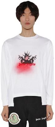 Palm Angels Moncler Genius L/s Cotton Jersey T-shirt