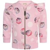Kenzo KidsGirls Pink Floral Print Zip Up Top