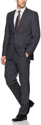 Vince Camuto Men's Slim Fit Charcoal 2 Piece Suit 36 Regular