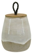 Threshold Tall Lidded Vase - White