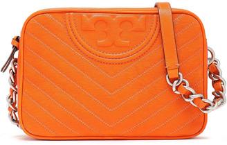 Tory Burch Tassel-trimmed Logo-embellished Quilted Leather Shoulder Bag