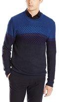 Calvin Klein Jeans Men's Cable Color Block Sweater