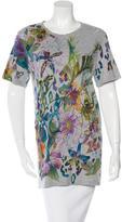 Balmain Distressed Floral Print T-Shirt