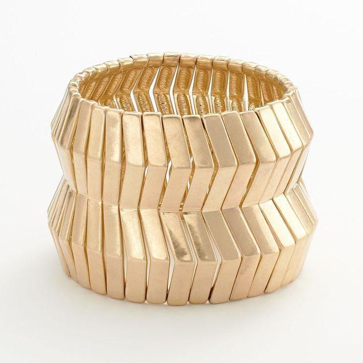 Apt. 9 gold tone stretch bracelet
