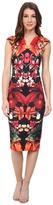 Ted Baker Bismii Tropical Toucan Cap Sleeve Dress