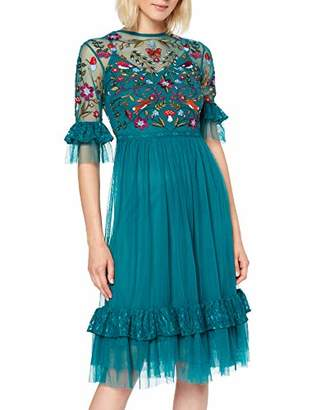 Frock and Frill Women's Gretel Ruffle Embroidered Dress Party,(Size:)
