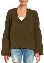 Free People Bell-Sleeved V-Neck Sweater