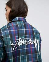 Stussy Boyfriend Coach Jacket In Plaid