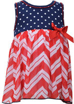 Bonnie Jean Americana Chevron Dress - Baby Girls newborn-24m
