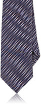Ermenegildo Zegna Men's Striped Silk Necktie-PINK