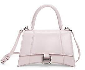Balenciaga Women's Extra-Small Hourglass Leather Top Handle Bag