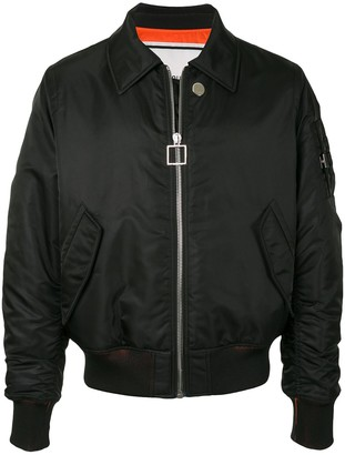 Wooyoungmi Point Collar Technical Bomber Jacket