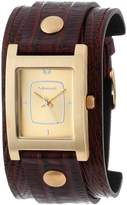 Vestal Women's EA013 Electra -Tone Brown Leather Watch