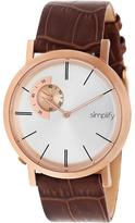 Simplify The 3100 Collection SIM3106 Men's Rose Gold Stainless Steel Watch