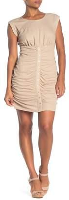 MelloDay Ruched Button Down Tank Dress
