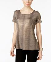 NY Collection Metallic T-Shirt