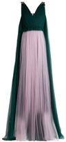 DELPOZO Sequin-embellished V-neck tulle gown