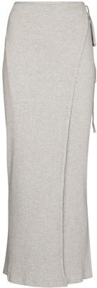 Base Range Brig ribbed-knit wraparound skirt