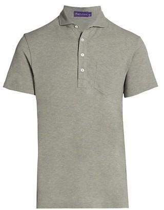Ralph Lauren Purple Label Custom Slim-Fit Washed Pique Polo Shirt