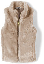 Classic Girls Fur Vest-Burgundy