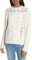 Sea Women's Lace Lace Inset Sweater