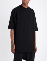 Rick Owens DRKSHDW Dropped-shoulder cotton-jersey T-shirt