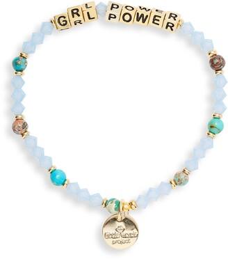 Little Words Project Grl Power Beaded Stretch Bracelet