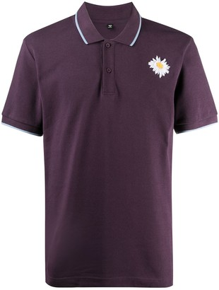 Mcq Swallow Logo Embroidered Polo Shirt