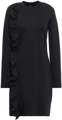 Victoria Victoria Beckham Ruffle-trimmed Ponte Mini Dress