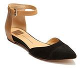"Dolce Vita Geo"" Dress Flats with Adjustable Ankle Strap - Black"