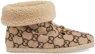 Gucci Men's GG wool ankle boot