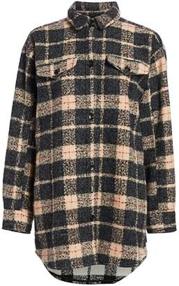 MUNTHE Juli Oversized Wool-Blend Flannel Jacket