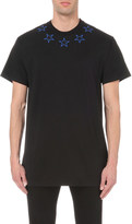 Givenchy Star embroidered cotton-jersey t-shirt