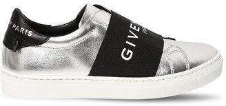 Givenchy Logo Print Leather Slip-on Sneakers