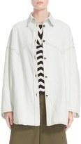 MM6 MAISON MARGIELA Women's Bleached Washed Denim Shirt