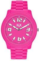 Haurex H2X Women's SF381XF1 Splash Luminous Water Resistant Neon Pink Soft Rubber Watch