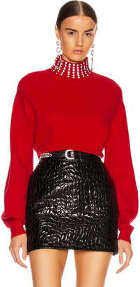 GRLFRND Katherine Embellished Sweater in Cherry Red | FWRD