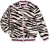 Kenzo Reversible Faux-Fur Zebra Print Jacket, Size 14-16
