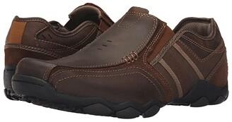 Skechers Classic Fit Diameter - Zinroy (Dark Brown Leather) Men's Shoes
