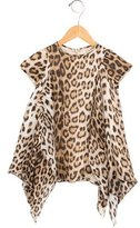 Roberto Cavalli Girls' Silk Draped Top