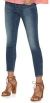 Apt. 9 Women's Faded Zipper Capri Jeans