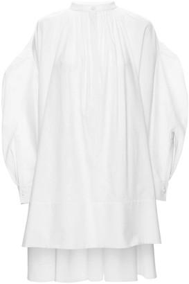 Alexander McQueen Cotton Poplin Shirt Mini Dress