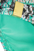 Vix Swimwear Vix Rudá snake-print bikini briefs