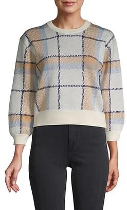 Joie Patterned Wool-Blend Sweater