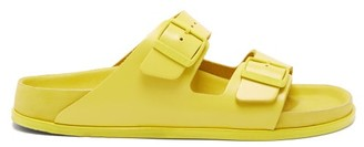 Birkenstock 1774 - Arizona Two-strap Leather Sandals - Mens - Yellow