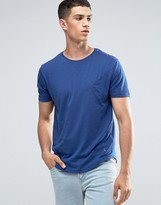 Ringspun Cut And Sew Pocket T-shirt With Curved Hem