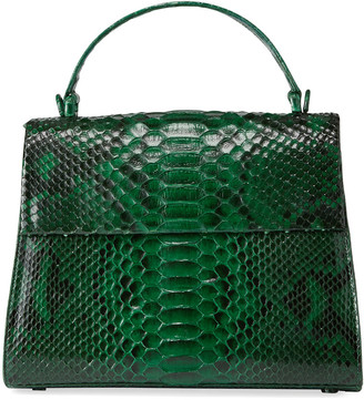 Nancy Gonzalez Large Python Top-Handle Bag with Strap